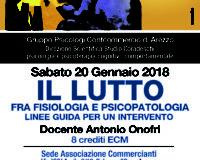Corso ECM: Lutto fra Fisiologia e Psicopatologia. Tenuto da A. Onofri Arezzo 20 gennaio 2018